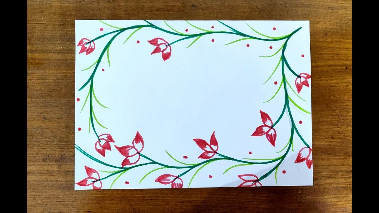 Diy Simple Easy Decorative Border Design For Christmas Project Fi