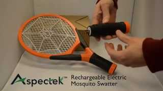 Features of Aspectek Rechargeable Electric Fly & Mosquito Swatter