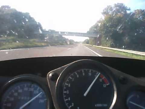 YAMAHA FZR 600 TOP SPEED AT THE AUTOBAHN 240 KM-PH