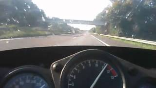 YAMAHA FZR 600 TOP SPEED AT THE AUTOBAHN 240 KM-PH