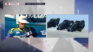 Toni Elias Interview MotoAmerica EBC Brakes Superbike Race 1 at COTA