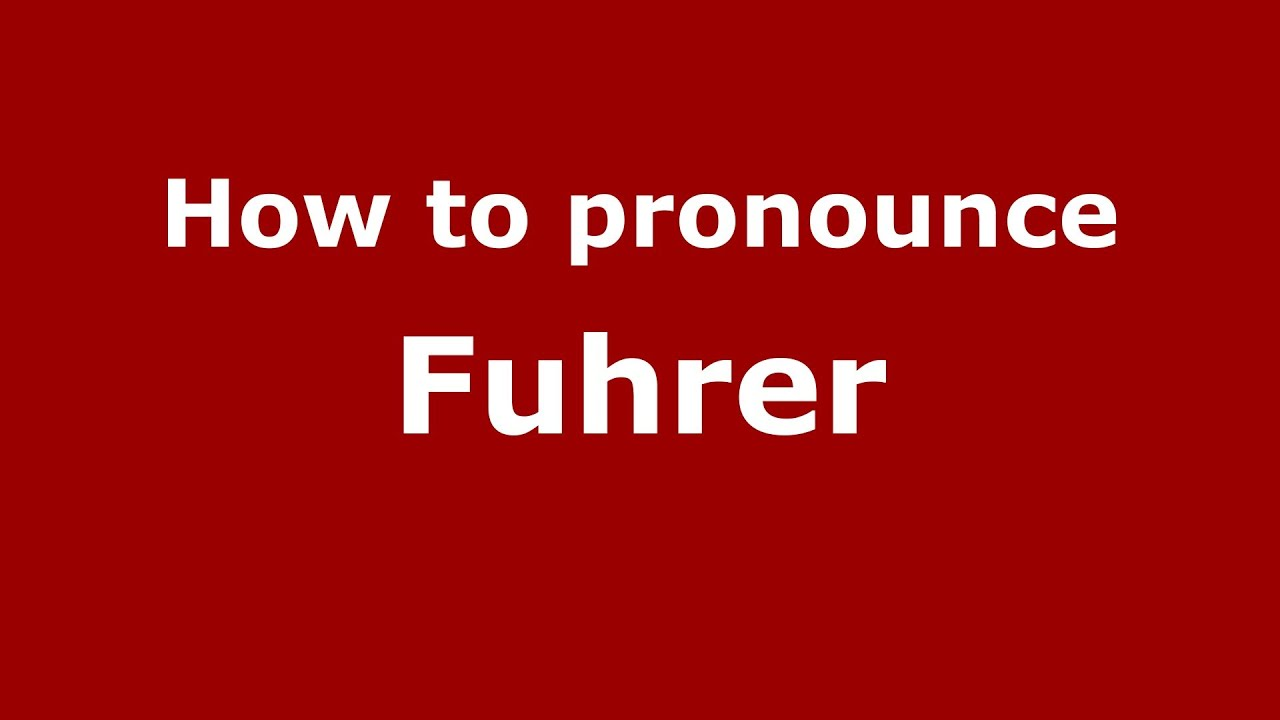 What does the word Fuhrer mean