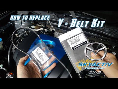 Mazda CX 5 CX 3 Mazda 2 Mazda 6 Biante Skyactiv How to replace V belt / Water pump belt .