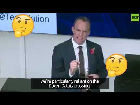 Watch moment Dominic Raab realises that the UK's an island