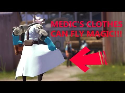 Medic's clothes can fly magic!!!