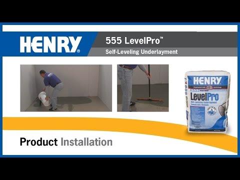 HENRY® 555 LevelPro™ Self-Leveling Underlayment