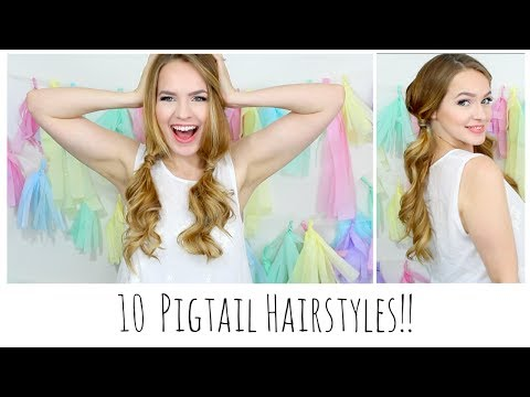 10 Easy Pigtails Youll Love!!