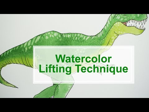 Watercolor Lifting Technique - how to create texture and highlights