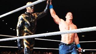 John Cena leads the crowd in singing Happy Birthday to Goldust in Birmingham, England