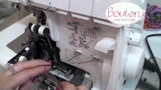 איך להשחיל מכונת אוברלוק ביתית/ How to thread an overlock machine?