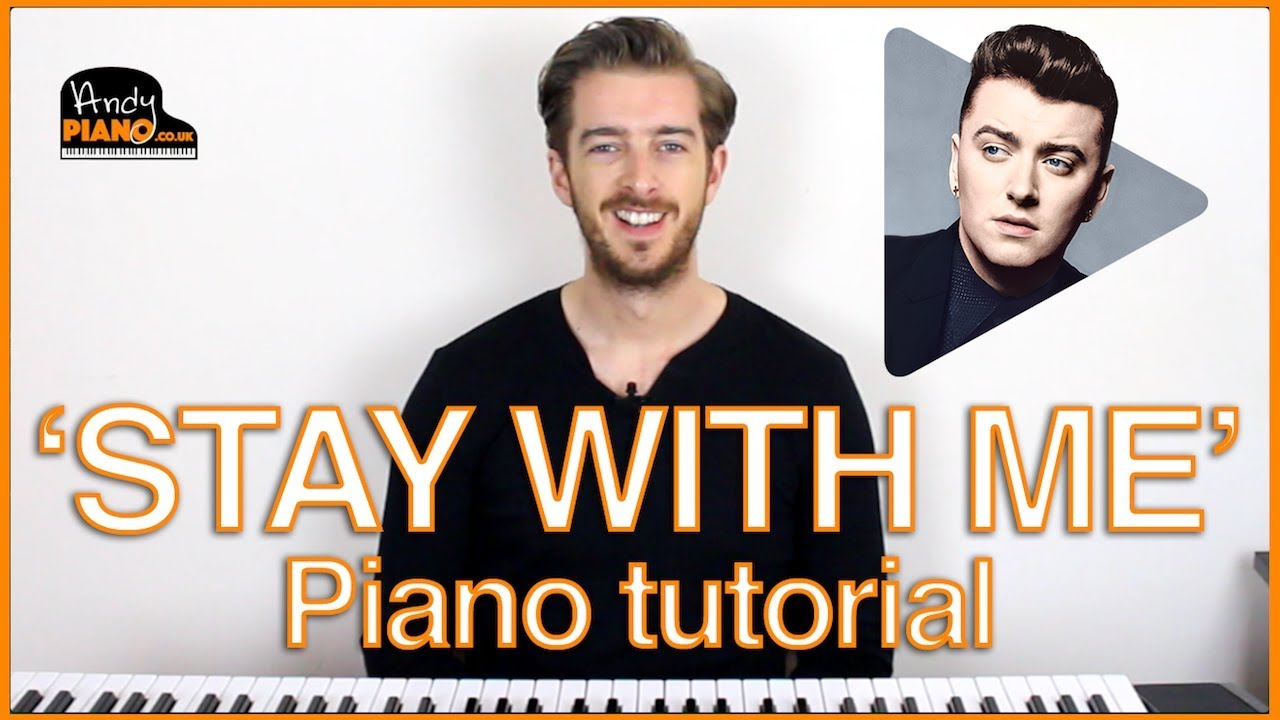 how to play stay with me on piano