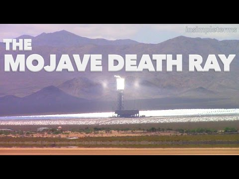 Death Ray Solar Power Plant in Mojave Desert California