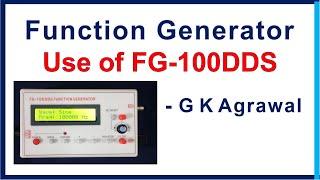 Functie-generator, het gebruik FG-100 DDS & review