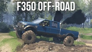 insane lifted ford f 350 off road 4x4 mudding exploring spin tires mods