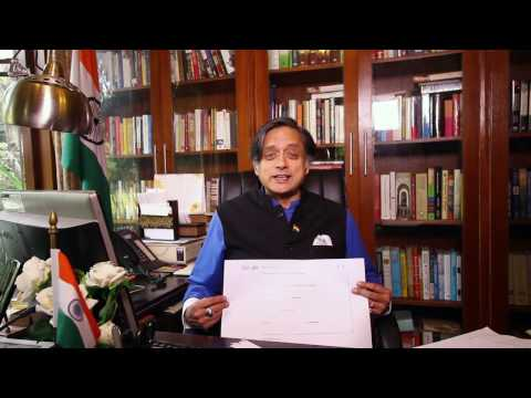 Shashi Tharoor on Snapdeal