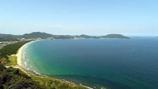 毘沙門山からの博多湾 4K空撮