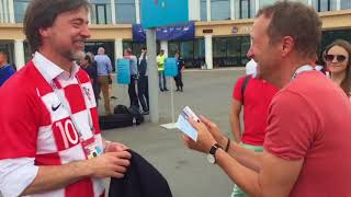 """Французы и хорваты кричат """"Россия!"""" перед финалом ЧМ2018"""