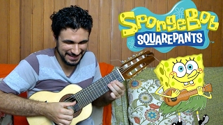 Download SpongeBob SquarePants Theme - Mini Guitar (Marcos Kaiser) MP3 song and Music Video