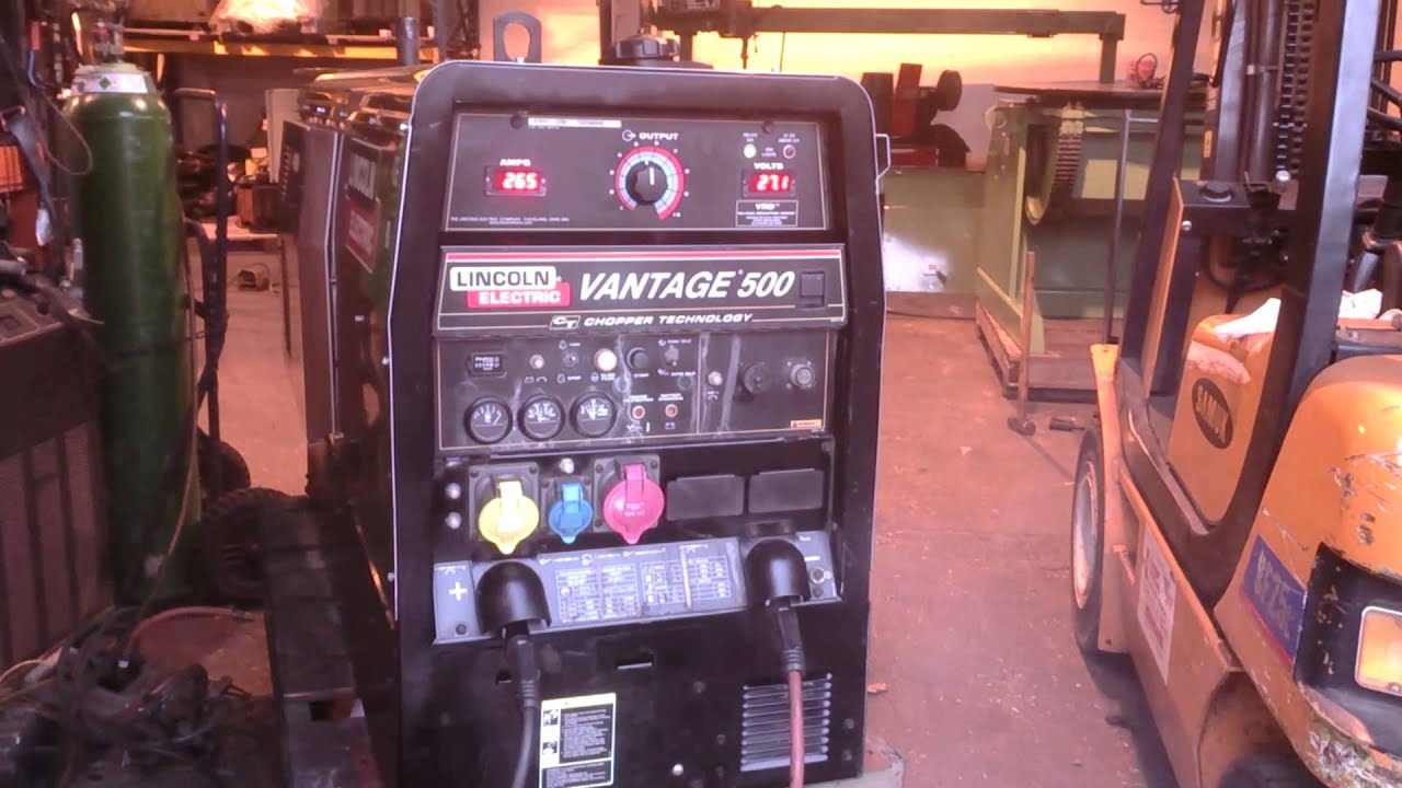 lincoln vantage 500 diesel welder with lincoln ln25 wire feed for mig gmaw  welding