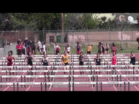Rafer Johnson:  Girls 100mh #1: 3/21/2015