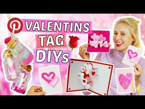 3 Pinterest VALENTINSTAG DIY IDEEN 🌹Romantische Geschenke selber machen für Freund & beste Freundin