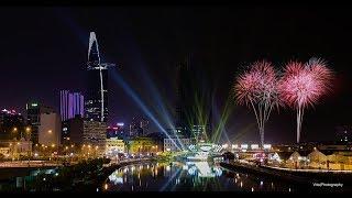 Bắn pháo hoa Tết Mậu Tuât 2018 ở Sài Gòn cực đẹp