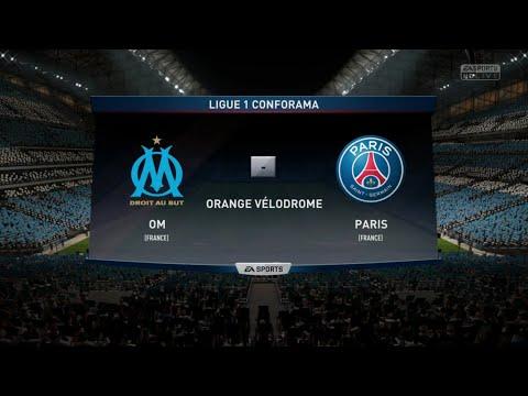 FIFA 18. Olympique de Marseille (OM) vs Paris st Germain (PSG) + visages des joueurs
