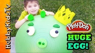 WORLDS FIRST BIGGEST Surprise Toy Egg Ever! King Pig - Angry Birds, Star Wars, Toy Story