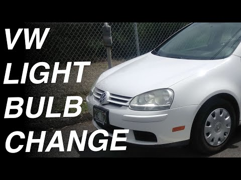 How to change / fix a headlight Bulb in Volkswagen Rabbit Jetta GTI Passat Golf 2007 2008 2009 2010