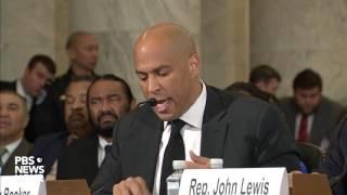 Sen. Cory Booker breaks Senate tradition, testifies against Sen. Jeff Sessions