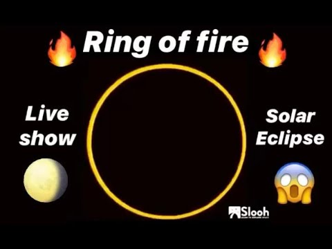 Ring Of Fire Annular Solar Eclipse 2019 | Slooh Telescope Live