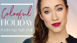 One of Allie Glines's most viewed videos: ULTA BEAUTY'S COLOR-FULL INSPIRED Holiday Makeup Tutorial | ALLIE GLINES
