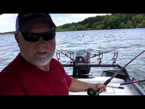 Catfishing for blues on the Ohio River
