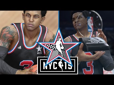 NBA LIVE 15 Rising Star - 2015 ALL-STAR GAME! ALL-STAR MVP TROPHY!!