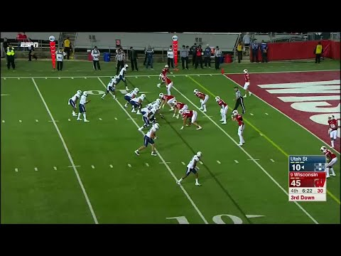 Joe Ferguson 99-YD Pick Six vs. Utah State