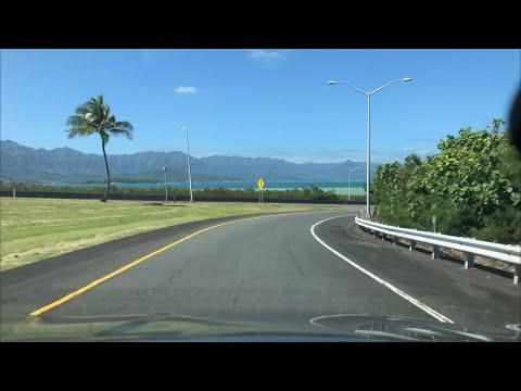 Driving to Marine Base Kaneohe Bay from Kailua