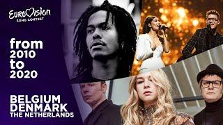 Eurovision: Tops — Belgium, Denmark & The Netherlands (2010-2020)