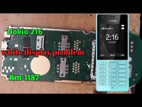 Nokia 216 white display problem || Nokia Rm 1187 white display solution 2018
