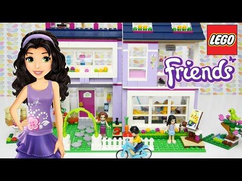 LEGO Friends Emma&39;s House Set Unboxing Building Review - Kids Toys
