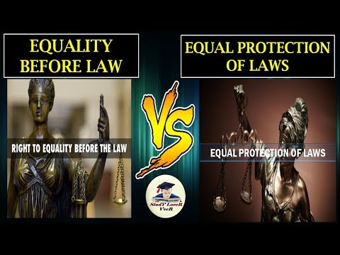 India Polity-L-16- Equality before Law VS Equal protection of Laws| (Fundamental Rights) By VeeR
