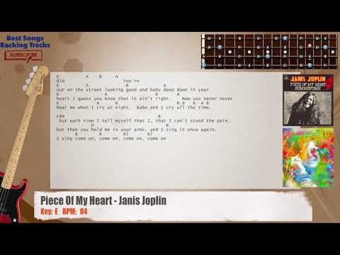 Piece Of My Heart - Janis Joplin Bass Backing Track with chords and lyrics