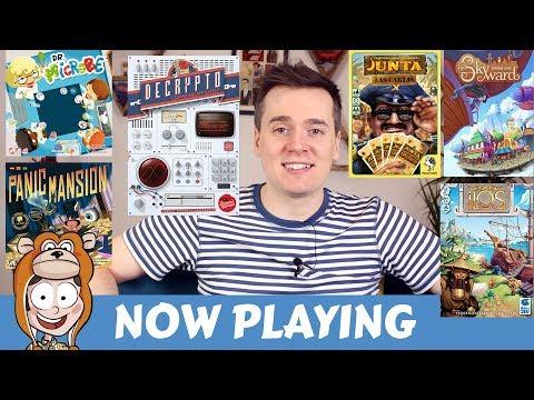 Now Playing: Decrypto, Skyward, Junta Las Cartas, Ilos, Dr Microbe, Panic Mansion
