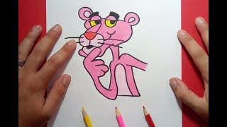 Como dibujar a la pantera rosa paso a paso 2 | How to draw the pink panther 2