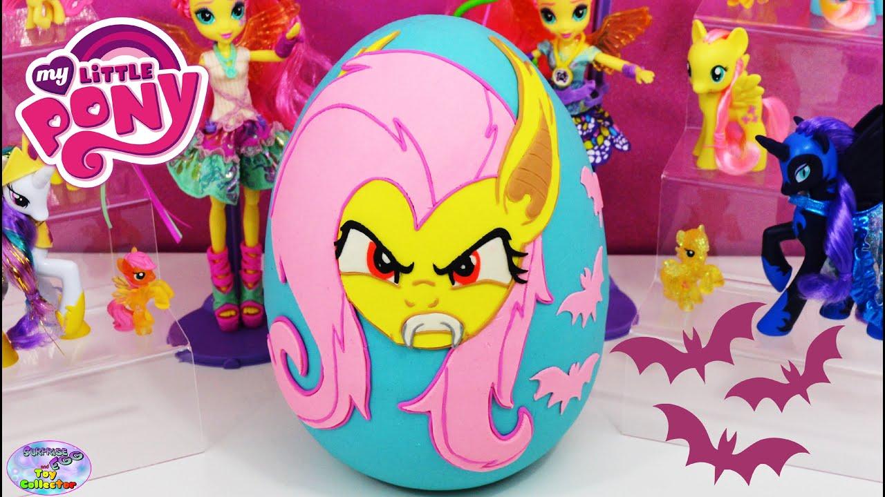 068c9606e My Little Pony Giant Play Doh Surprise Egg Flutterbat Fluttershy MLP  Kidrobot Hello Kitty SETC