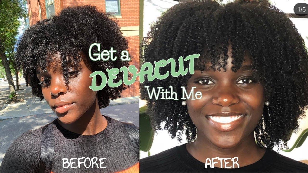 Type 4 Hairstyles: Get A DEVACUT With Me - Type 4 Hair