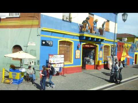 La Boca district...Buenos Aires (with narration by tour guide)