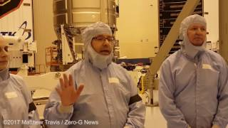 Cygnus OA-7 In The Cleanroom Media Event At KSC