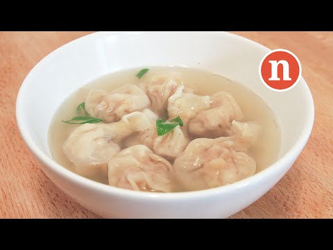 Wantan Soup with Meat and Prawn Filling | Wantan Soup | 馄饨 | 云吞 | 抄手 | 清汤 [Nyonya Cooking]