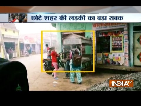 CCTV: Woman thrashes man for allegedly molesting her in Bhind district of MP