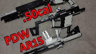 レゴで銃を作ってみた@GHF:LEGO 50cal AR15+PDW+More!